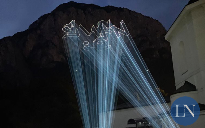 Laser sul San Martino