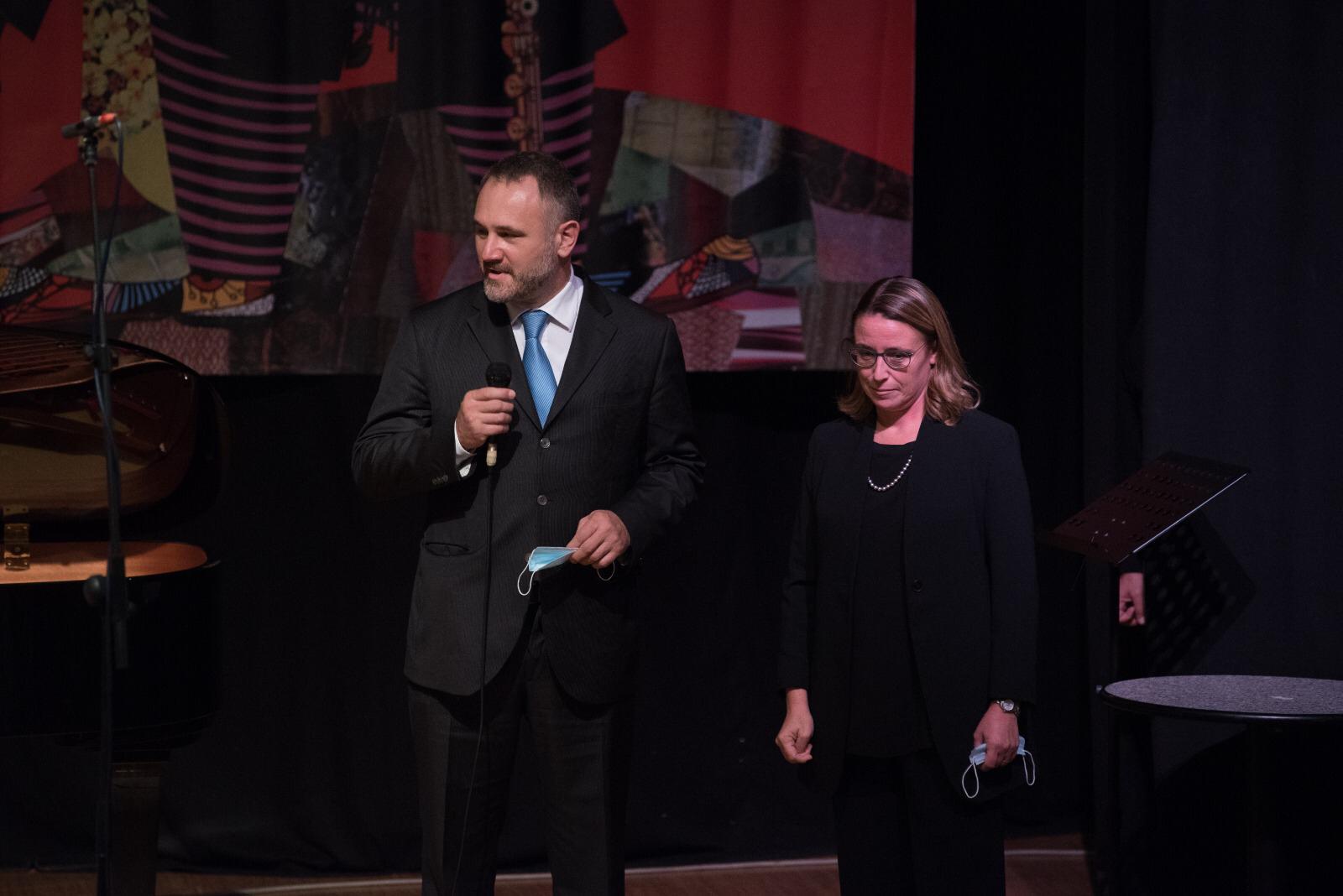 Zoran Boras e Francesca Negrini del Laboratorio delle Lingue, Main sponsor dell'evento
